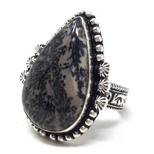 Sterling Silver Dendritic Ring